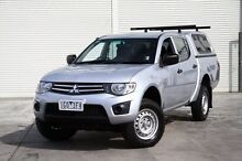 2012 Mitsubishi Triton MN MY12 GLX Double Cab Silver 4 Speed Automatic Utility Frankston Frankston Area Preview