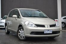 2008 Nissan Tiida C11 MY07 ST-L Silver 4 Speed Automatic Hatchback Burwood Whitehorse Area Preview