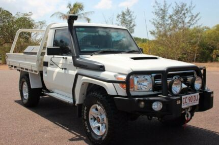 2014 Toyota Landcruiser VDJ79R GXL French Vanilla 5 Speed Manual Cab Chassis