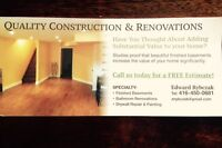 Quality construction & Renovations