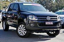 2012 Volkswagen Amarok 2H MY12 TDI400 4Mot Highline Black 6 Speed Manual Utility Taringa Brisbane South West Preview