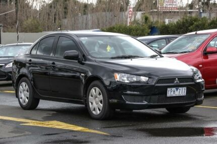 2011 Mitsubishi Lancer CJ MY11 ES Black 6 Speed CVT Auto Sequential Sedan Ringwood East Maroondah Area Preview