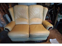 3 piece lether suite (3 seater/2 seater/1 seater) - ready for immediate pickup