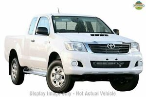 2012 Toyota Hilux KUN26R MY12 SR Xtra Cab Super White 5 Speed Manual Utility Upper Ferntree Gully Knox Area Preview