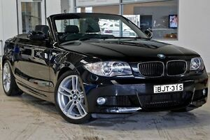 2009 BMW 120I E88 MY09 Black 6 Speed Automatic Convertible Gymea Sutherland Area Preview