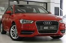 2015 Audi A3 8V MY16 Attraction Sportback S tronic Red 7 Speed Sports Automatic Dual Clutch Hatchbac North Melbourne Melbourne City Preview