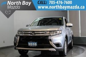 2016 Mitsubishi Outlander ES AWD with Bluetooth, Heated Seats, C