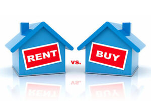 **WANT TO STOP RENTING AND OWN?**