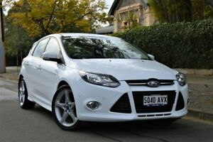 2013 Ford Focus LW MkII Titanium PwrShift White 6 Speed Sports Automatic Dual Clutch Hatchback Hyde Park Unley Area Preview