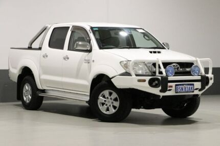 2010 Toyota Hilux KUN26R 09 Upgrade SR5 (4x4) White 4 Speed Automatic Dual Cab Pick-up Bentley Canning Area Preview