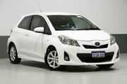2012 Toyota Yaris NCP130R YR White 5 Speed Manual Hatchback Bentley Canning Area Preview