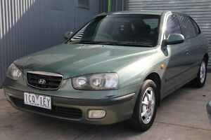 2000 Hyundai Elantra XD GLS Light Green 4 Speed Automatic Hatchback Briar Hill Banyule Area Preview