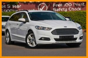 2015 Ford Mondeo MD Ambiente PwrShift White 6 Speed Sports Automatic Dual Clutch Wagon Mount Gravatt Brisbane South East Preview