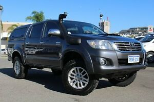 2014 Toyota Hilux KUN26R MY14 SR5 Double Cab Charcoal Grey 5 Speed Automatic Utility Northbridge Perth City Area Preview