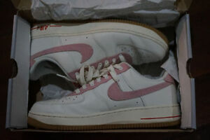 Nike Air Force 1 Low White/Cream/Red 9/10 Deadstock - Sz 13