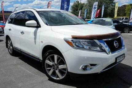 2014 Nissan Pathfinder R52 MY14 Ti X-tronic 4WD White 1 Speed Constant Variable Wagon
