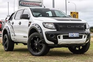 2012 Ford Ranger PX XL Double Cab White 6 Speed Sports Automatic Utility Bibra Lake Cockburn Area Preview