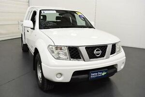 2012 Nissan Navara D40 S7 MY12 RX 4x2 White Automatic Utility Moorabbin Kingston Area Preview