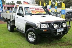 2011 Nissan Patrol GU 6 Series II ST White 5 Speed Manual Cab Chassis Ferntree Gully Knox Area Preview