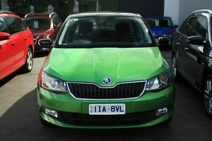 2015 Skoda Fabia NJ MY15 81TSI DSG Green 7 Speed Sports Automatic Dual Clutch Hatchback Seaford Frankston Area Preview