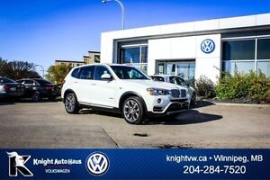 2015 BMW X3 xDrive28i AWD w/ Leather/Sunroof/Backup Cam