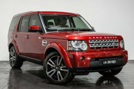 2013 Land Rover Discovery 4 Series 4 L319 MY13 SDV6 HSE Red 8 Speed Sports Automatic Wagon