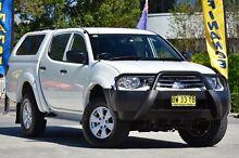 2013 Mitsubishi Triton MN MY14 GLX Double Cab White 5 Speed Manual Utility Southport Gold Coast City Preview