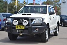 2014 Toyota Hilux KUN26R MY14 SR Double Cab White 5 Speed Automatic Utility Pearce Woden Valley Preview