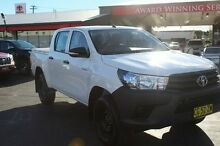 2015 Toyota Hilux GUN125R Workmate Double Cab White Sports Automatic Utility South Maitland Maitland Area Preview