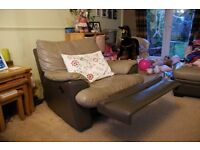Leather corner sofa and electric Recliner armchair FOR QUICK SALE
