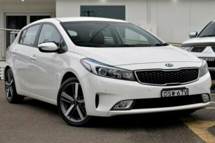 2017 Kia Cerato YD MY18 Sport White 6 Speed Sports Automatic Hatchback Gosford Gosford Area Preview