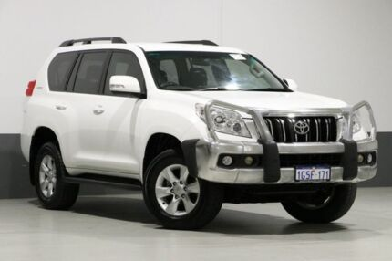 2012 Toyota Landcruiser Prado KDJ150R 11 Upgrade GXL (4x4) White 5 Speed Sequential Auto Wagon Bentley Canning Area Preview