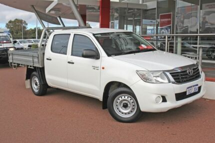 2012 Toyota Hilux GGN15R MY12 SR Double Cab Glacier White 5 Speed Manual Utility