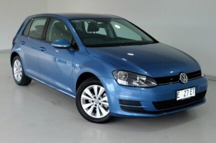 2014 Volkswagen Golf VII MY15 90TSI DSG Comfortline Blue 7 Speed Sports Automatic Dual Clutch Hatchb Glebe Hobart City Preview