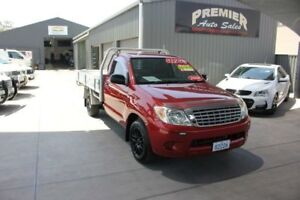 2008 Toyota Hilux TGN16R 07 Upgrade Workmate Red 5 Speed Manual Cab Chassis