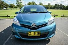 2014 Toyota Yaris NCP130R YR Blue 4 Speed Automatic Hatchback Wetherill Park Fairfield Area Preview