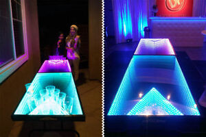 led infinity glow Professional beer pong table brand new