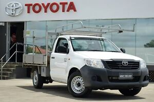 2013 Toyota Hilux TGN16R MY14 Workmate White 5 Speed Manual Cab Chassis Old Guildford Fairfield Area Preview