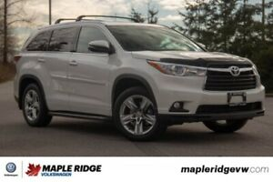 2015 Toyota Highlander Limited NO ACCIDENTS, SUPER LOW KM, BC CA