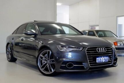 2015 Audi A6 4G MY16 S Line S tronic quattro Grey 7 Speed Sports Automatic Dual Clutch Sedan Myaree Melville Area Preview