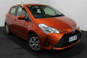 2017 Toyota Yaris NCP130R Ascent Orange 4 Speed Automatic Hatchback Glenorchy Glenorchy Area Preview