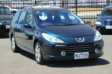 2007 Peugeot 307 T6 XSE HDi Touring Blue 6 Speed Sports Automatic Wagon Heatherton Kingston Area Preview