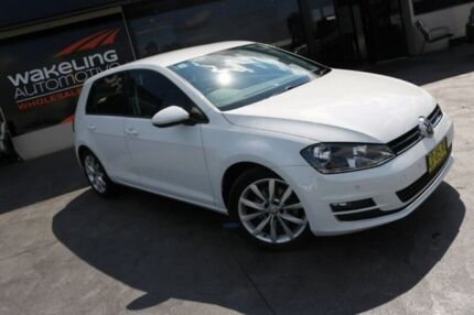 2015 Volkswagen Golf VII MY15 103TSI DSG Highline White 7 Speed Sports Automatic Dual Clutch Smeaton Grange Camden Area Preview