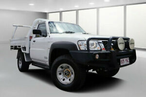 2012 Nissan Patrol MY11 Upgrade ST (4x4) White 5 Speed Manual Coil Cab Chassis