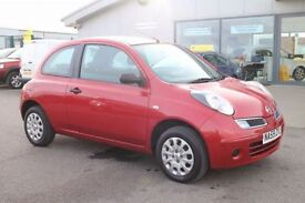 NISSAN MICRA 1.2 VISIA 3d 80 BHP - 360 SPIN ON WEBSITE (red) 2009