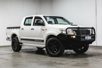 2013 Toyota Hilux KUN26R MY12 SR Double Cab White 5 Speed Manual Utility Welshpool Canning Area Preview