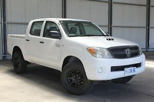 2008 Toyota Hilux KUN26R MY08 SR White 4 Speed Automatic Utility Invermay Launceston Area Preview
