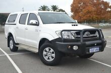 2010 Toyota Hilux KUN26R MY10 SR5 White 4 Speed Automatic Utility Midland Swan Area Preview