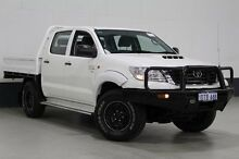 2011 Toyota Hilux KUN26R MY12 SR (4x4) White 5 Speed Manual Dual Cab Chassis Bentley Canning Area Preview