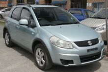 2008 Suzuki SX4 GYA GLX Light Blue 5 Speed Manual Hatchback Highland Park Gold Coast City Preview